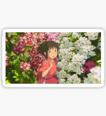Running through the Flowers - Spirited Away Sticker