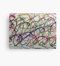 Colorful Oil Pastel Scribbles Canvas Print