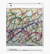 Colorful Oil Pastel Scribbles iPad Case/Skin