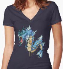 Gyarados Women's Fitted V-Neck T-Shirt