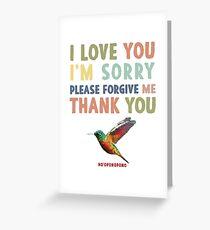 Ho'oponopono hummingbird 2 Greeting Card