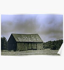 Barn in a Field Poster