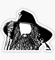 Ian as The Grey Wizard vacant expression Sticker