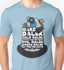 Hard Dalek Cold Dalek New Design (Grey/Blue) T-Shirt
