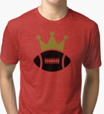Football crown champion Tri-blend T-Shirt