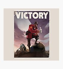 TF2 - Victory Poster/shirt Photographic Print