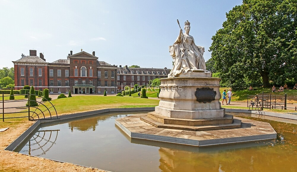 Queen Victoria in front of Kensington Palace by John Keates
