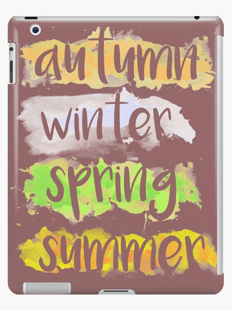 Season Autumn, Winter, Spring, Summer in Watercolor by waltercolor