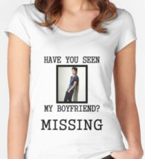 EXO Kai - Have You Seen My Boyfriend Women's Fitted Scoop T-Shirt