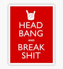 Head Bang Sticker
