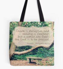 Proverbs 31:30 Tote Bag