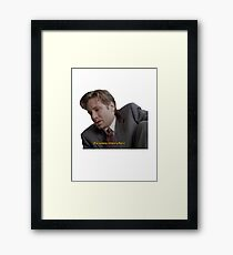 Fox Mulder [paranoia intensifies] Framed Print