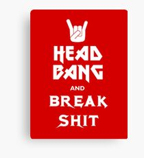 Head Bang (Metal Fonts) Canvas Print