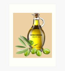 Extroversion Olive Oil Art Print