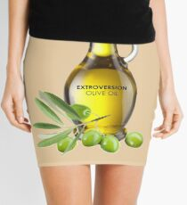 Extroversion Olive Oil Mini Skirt