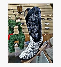 Snakeskin Boots Photographic Print