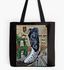 Snakeskin Boots Tote Bag