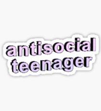 Anti - Social  Sticker