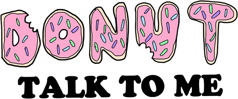 donut talk to me stickers by ronsmith57 redbubble. Black Bedroom Furniture Sets. Home Design Ideas