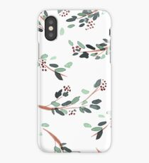 Watercolor Branches with Berries iPhone Case