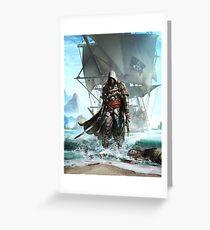 Assassins Creed 4 - Black Flag Greeting Card