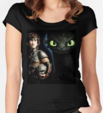 How To Train Your Dragon 8 Women's Fitted Scoop T-Shirt