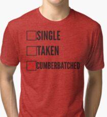 SHERLOCK SINGLE TAKEN CUMBERBATCHED Tri-blend T-Shirt