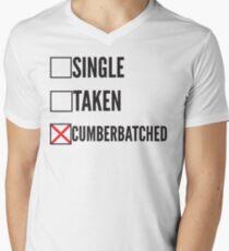SHERLOCK SINGLE TAKEN CUMBERBATCHED Men's V-Neck T-Shirt