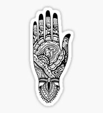 Paisley Henna Hand - Black Sticker