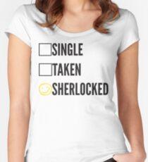 SINGLE TAKEN SHERLOCKED Women's Fitted Scoop T-Shirt