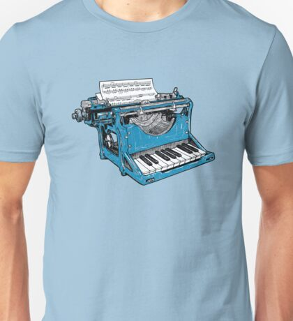 Musical Piano Typewriter T-shirt
