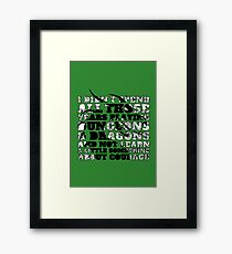 Dungeons & Dragons and Courage Framed Print