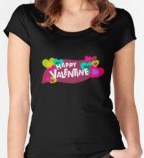 Happy Valentine! Women's Fitted Scoop T-Shirt