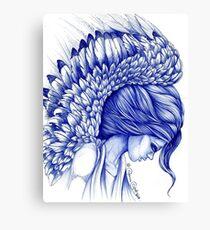 My Guardian Angel Ball Pen Ink Artwork Canvas Print