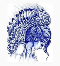 My Guardian Angel Ball Pen Ink Artwork Photographic Print