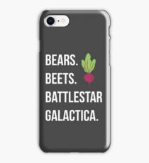 Bears. Beets. Battlestar Galactica. - The Office iPhone Case/Skin