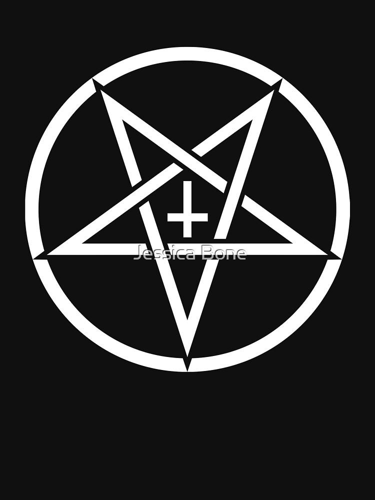 Pentagram con la cruz al revés de bonedesigns