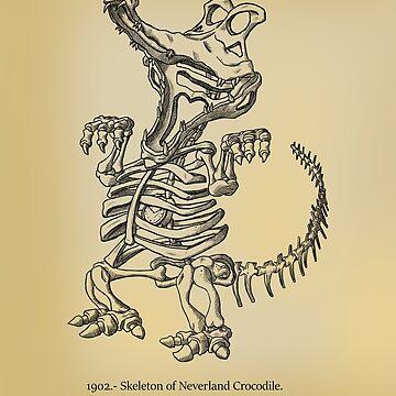 Tick Tock Croc Skeleton by GenoArt