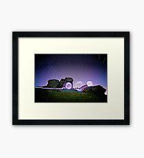 Light Spheres & Star Trails Framed Print
