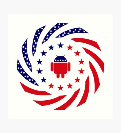 Android Murican Patriot Flag Series Art Print