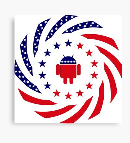 Android Murican Patriot Flag Series Canvas Print