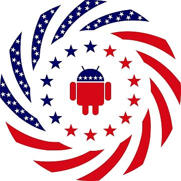 Android Murican Patriot Flag Series by carbonfibreme