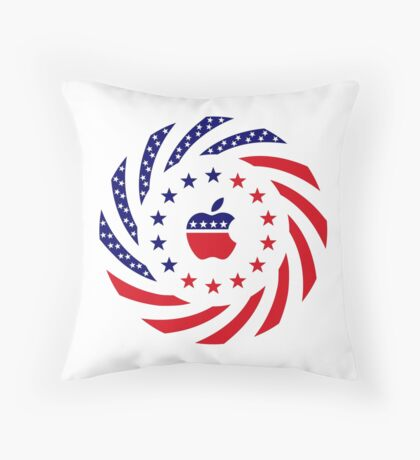 Apple Murican Patriot Flag Series Throw Pillow