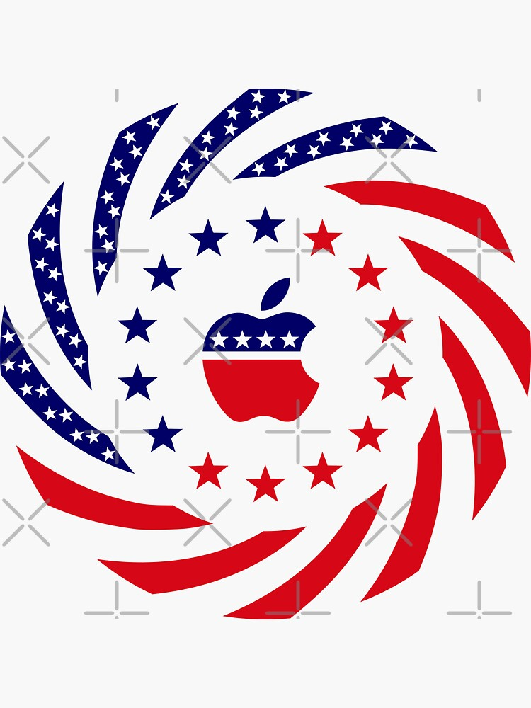 Apple Murican Patriot Flag Series by carbonfibreme