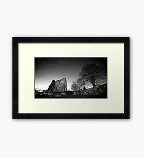 Star Trails - Knaresborough Castle Framed Print