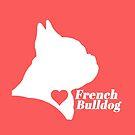 French Bulldog love! (in white) by stellarmule