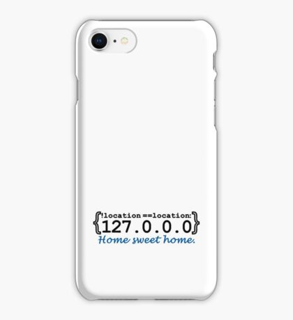 127.0.0.0 - Home sweet Home VRS2 iPhone Case/Skin
