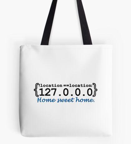 127.0.0.0 - Home sweet Home VRS2 Tote Bag