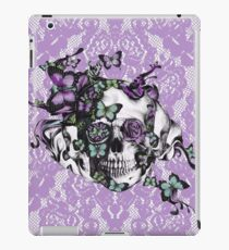 Candy coated, purple lace skull iPad Case/Skin