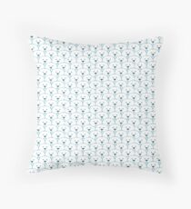 Ours blanc Throw Pillow